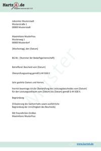 Überprüfungsantrag (Muster)